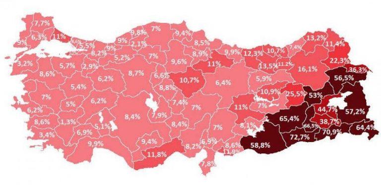Türkiye'nin Kaçak Elektrik Kullanım Haritası Haritası