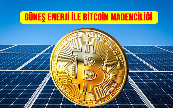 Kripto para bitcoin madenciliği güneş paneli