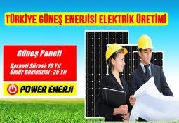 türkiye güneş enerjisi elektrik üretimi