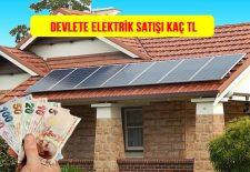 Devlete Elektrik Satış Fiyatı 2020