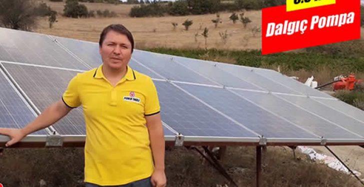 Güneş Enerjisi Paneli ile 5.5 Beygir Su Pompası Çalıştırma Tarla Sulama