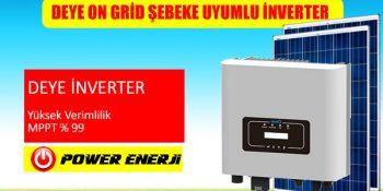 Deye Türkiye Marka On grid Şebeke Uyumlu Monofaze 220volt Trifaze 380volt hibrit inverter invertör fiyatları