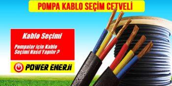 pompa kablo seçimi cetveli kesit hesaplama kaçlık kablo kullanmalıyım 1.2.3.4.5.5, 7.5,10 Hp pompa yassi kablosu