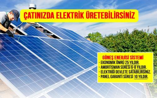 çatı tipi güneş enerji santralit