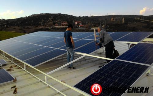 10 kw çatı üzeri güneş enerji santrali. (10)