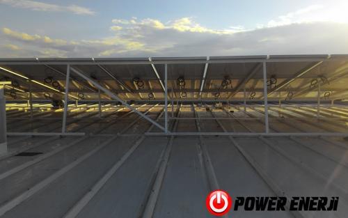 10 kw çatı üzeri güneş enerji santrali. (12)