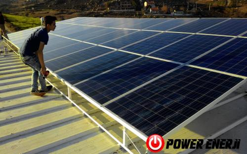 10 kw çatı üzeri güneş enerji santrali. (15)