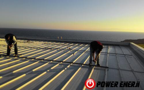 10 kw çatı üzeri güneş enerji santrali. (2)