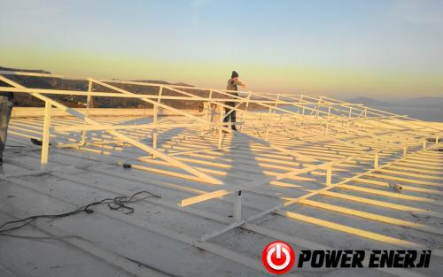 10 kw çatı üzeri güneş enerji santrali. (4)