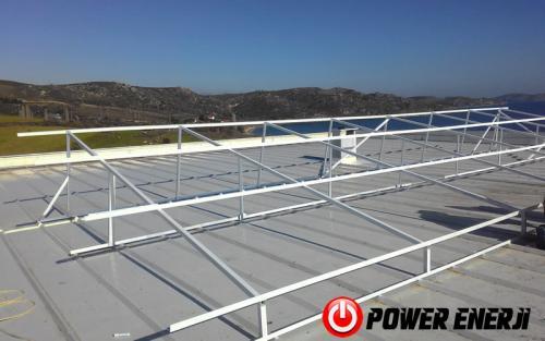10 kw çatı üzeri güneş enerji santrali. (6)