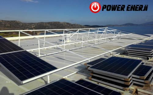 10 kw çatı üzeri güneş enerji santrali. (8)