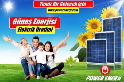 çatı üstü güneş paneli kurulumu POWER ENERJİ www.powerenerji.com