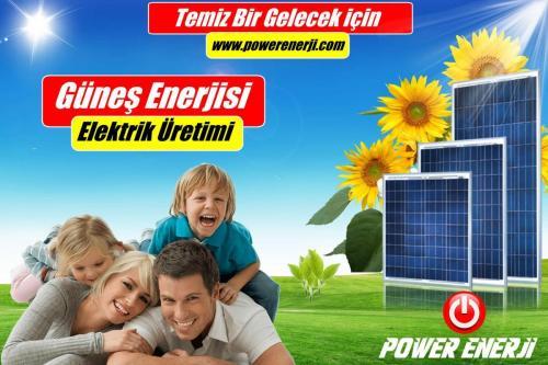 çatı üstü güneş paneli POWER ENERJİ www.powerenerji.com