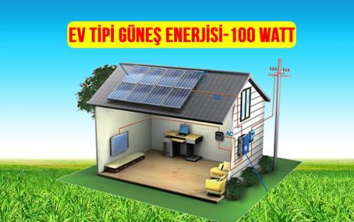 ev tipi güneş enerjisi 100 watt