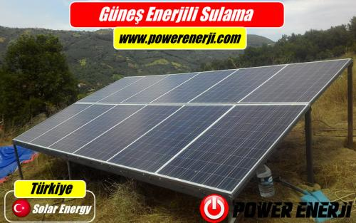 güneş enerjisi ile sulama projesi