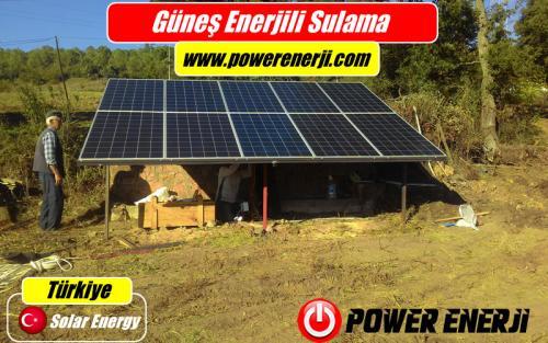 güneş enerji paneli sulama