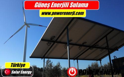 güneş enerjisi ile çalışan sulama sistemi